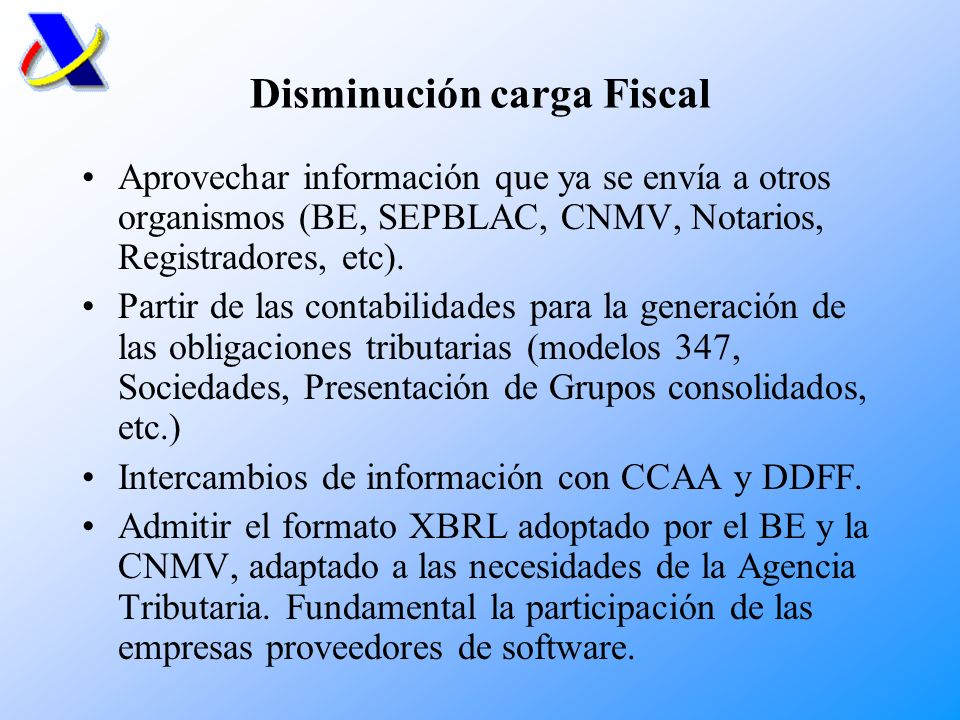 Disminución carga Fiscal