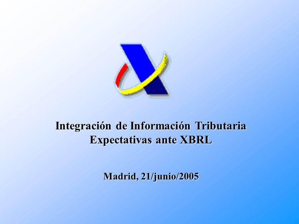 Integración de Información Tributaria Expectativas ante XBRL