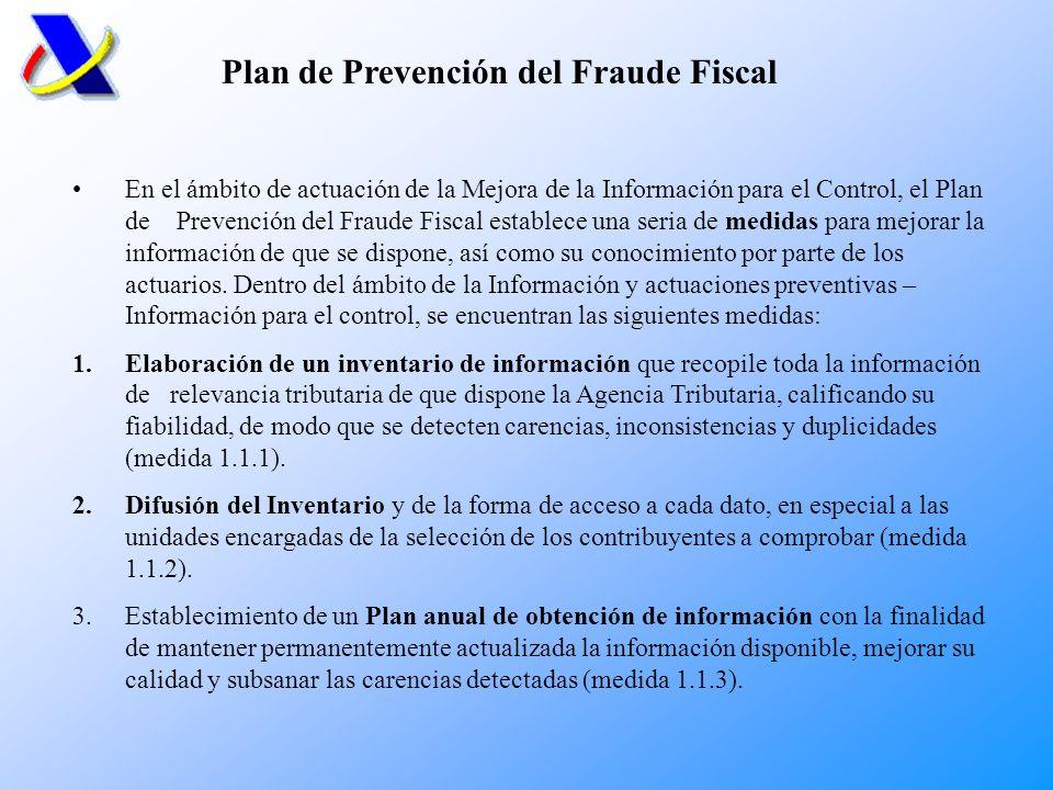 Plan de Prevención del Fraude Fiscal