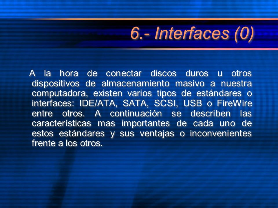 6.- Interfaces (0)