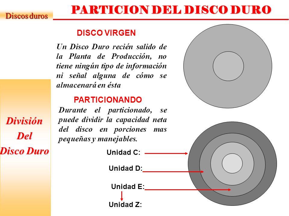 PARTICION DEL DISCO DURO