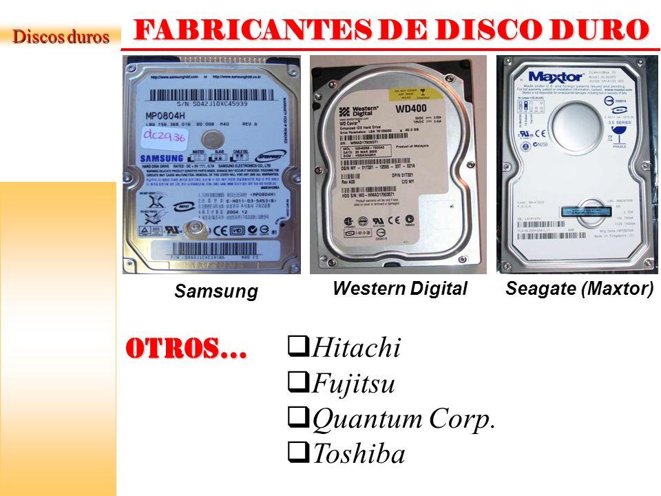 FABRICANTES DE DISCO DURO