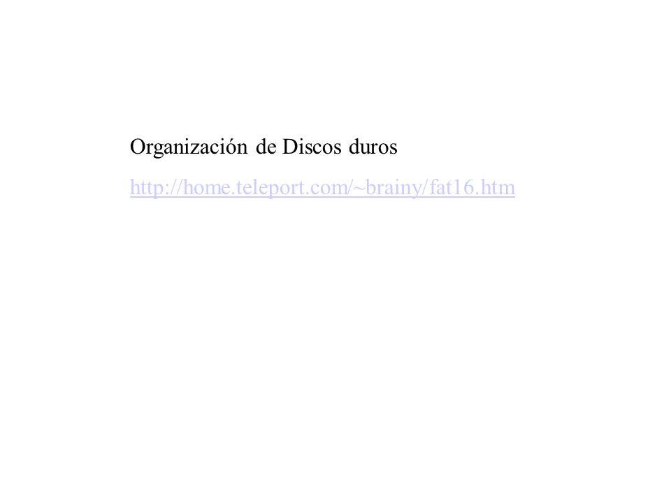 Organización de Discos duros