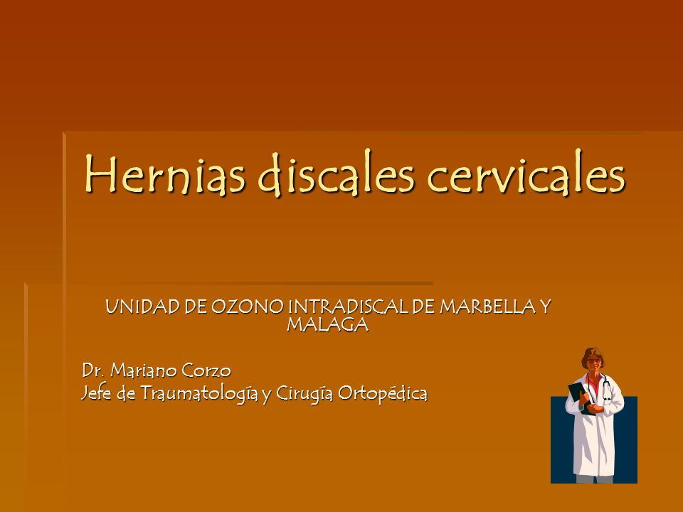 Hernias discales cervicales