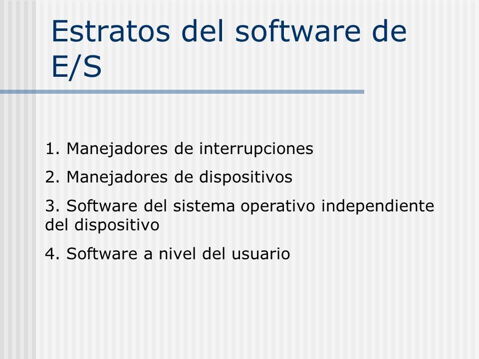 Estratos del software de E/S