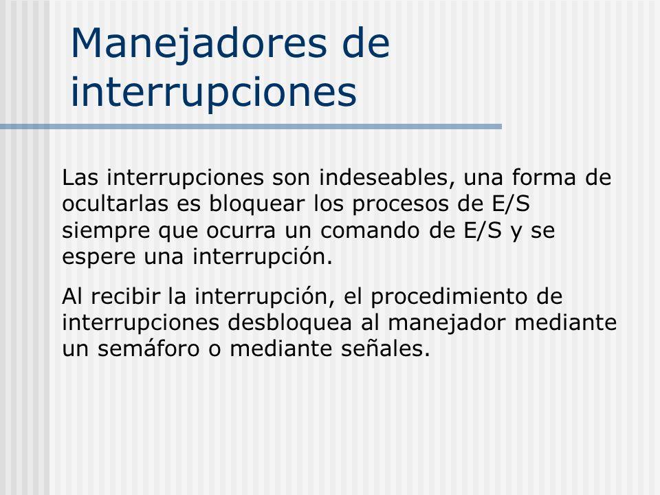 Manejadores de interrupciones