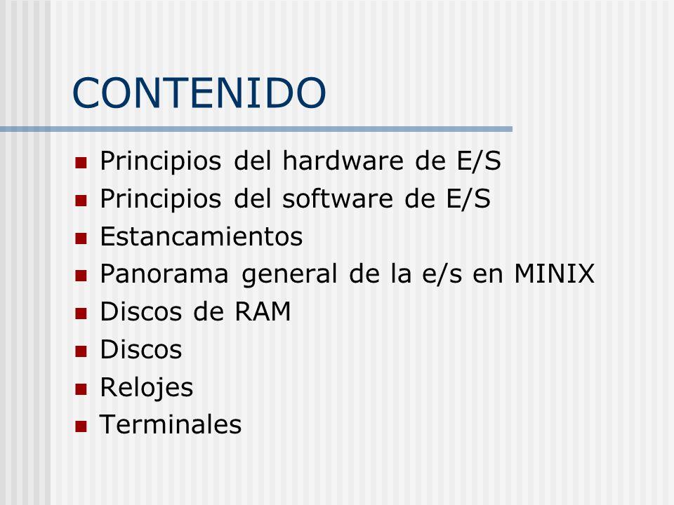 CONTENIDO Principios del hardware de E/S
