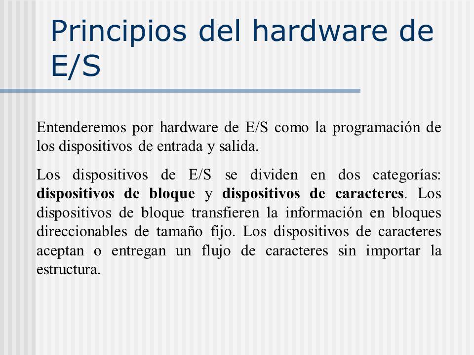 Principios del hardware de E/S