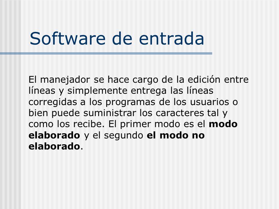 Software de entrada