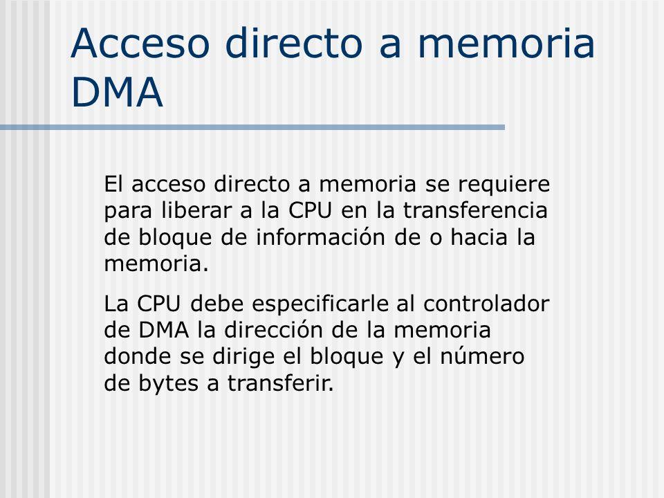 Acceso directo a memoria DMA