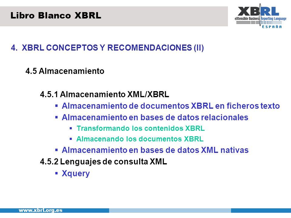 Libro Blanco XBRL 4. XBRL CONCEPTOS Y RECOMENDACIONES (II)