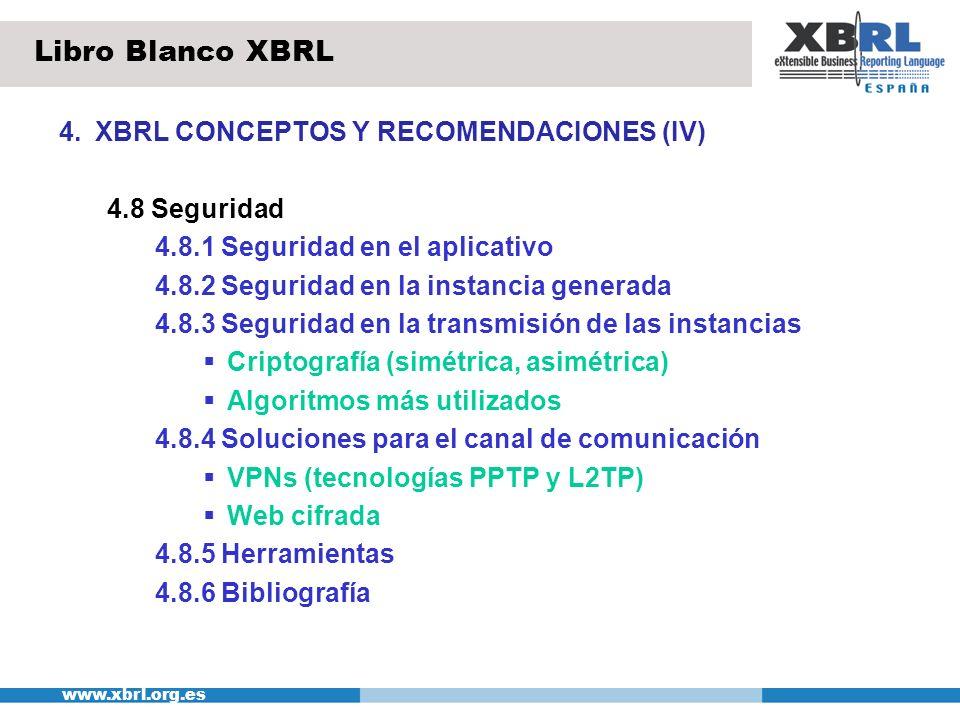 Libro Blanco XBRL 4. XBRL CONCEPTOS Y RECOMENDACIONES (IV)