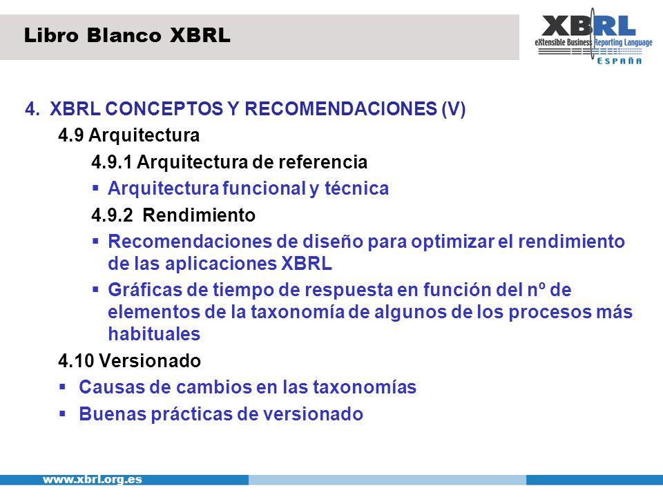 Libro Blanco XBRL 4. XBRL CONCEPTOS Y RECOMENDACIONES (V)