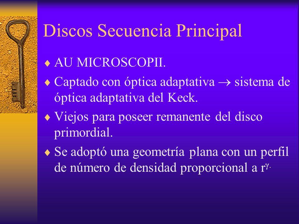 Discos Secuencia Principal