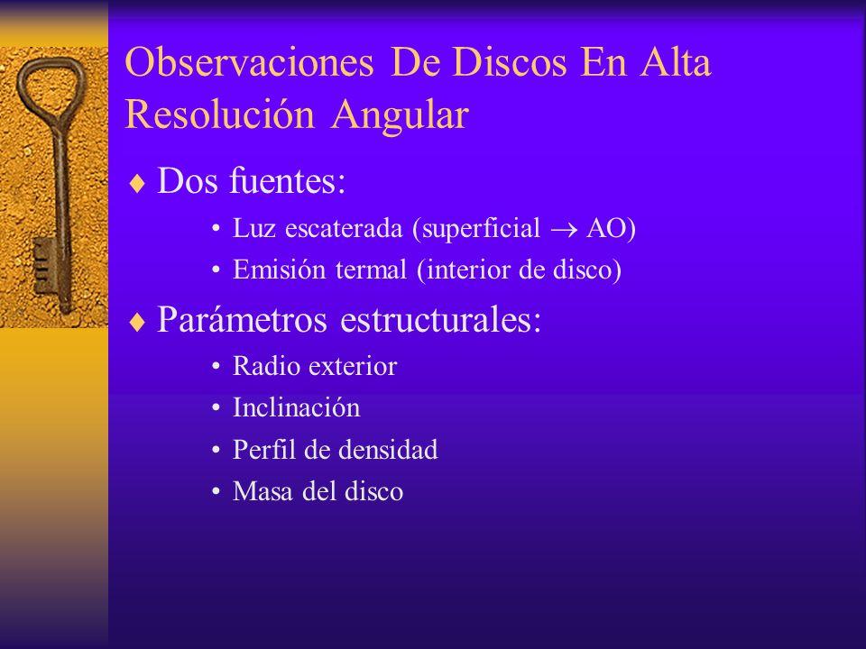Observaciones De Discos En Alta Resolución Angular