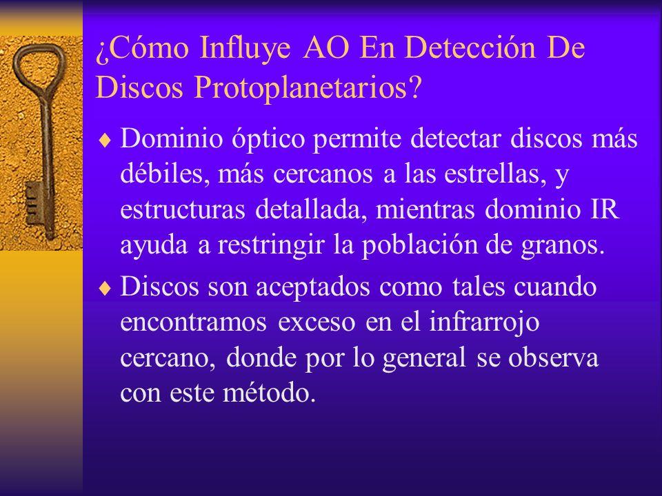 ¿Cómo Influye AO En Detección De Discos Protoplanetarios