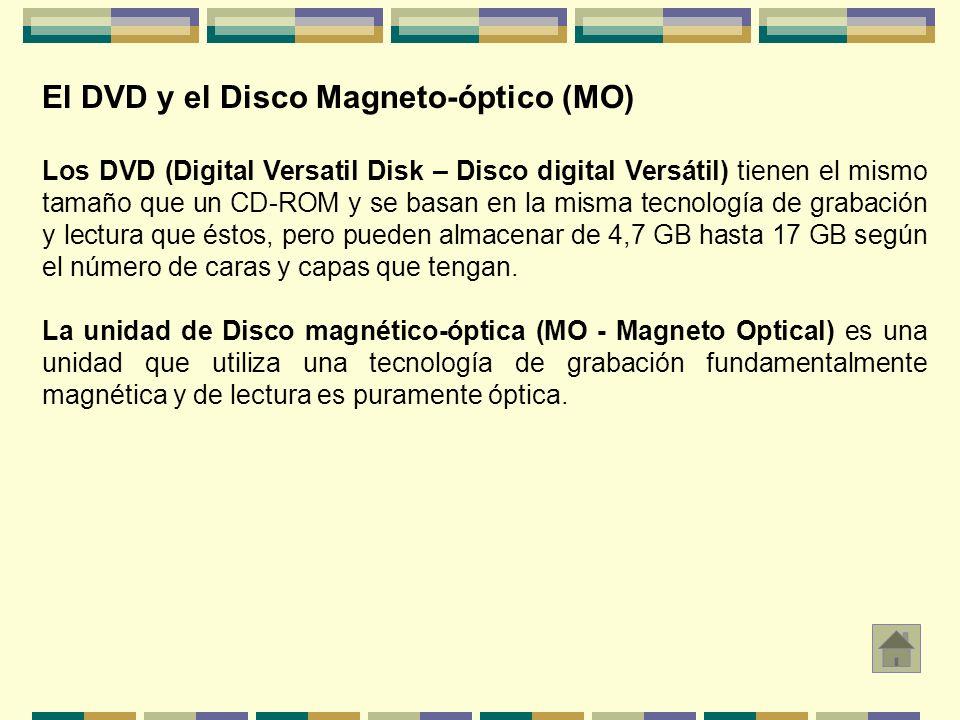 El DVD y el Disco Magneto-óptico (MO)