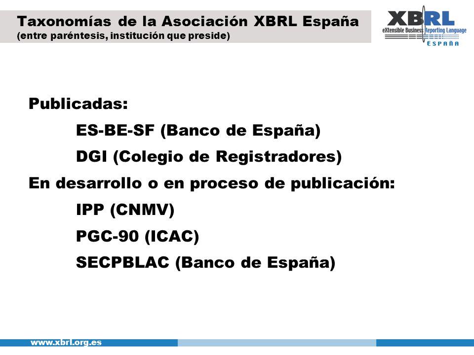 ES-BE-SF (Banco de España) DGI (Colegio de Registradores)