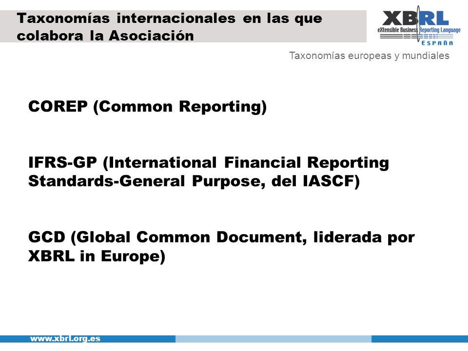 Taxonomías internacionales en las que colabora la Asociación