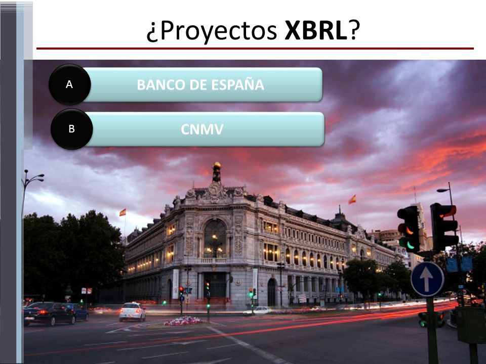 ¿Proyectos XBRL BANCO DE ESPAÑA A CNMV B