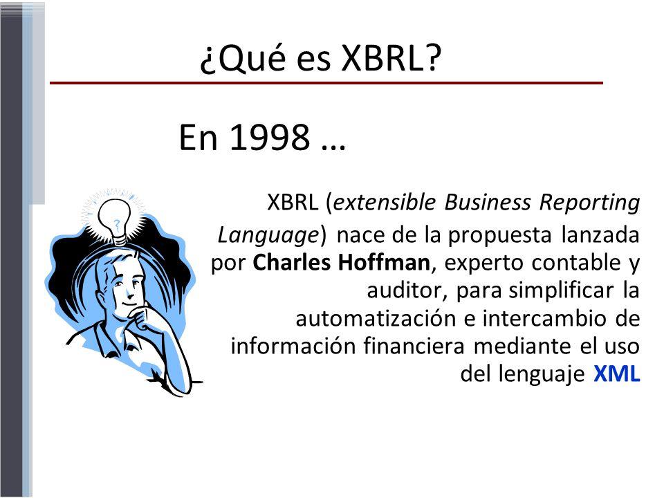 ¿Qué es XBRL En 1998 …