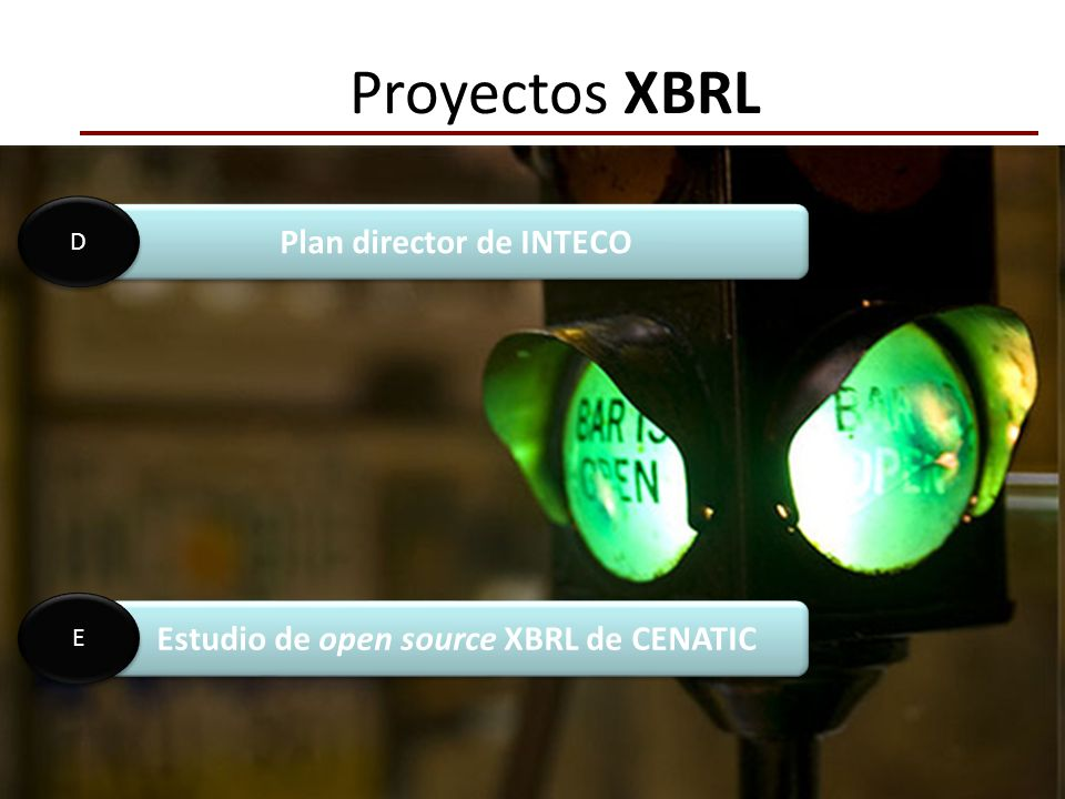 Plan director de INTECO Estudio de open source XBRL de CENATIC