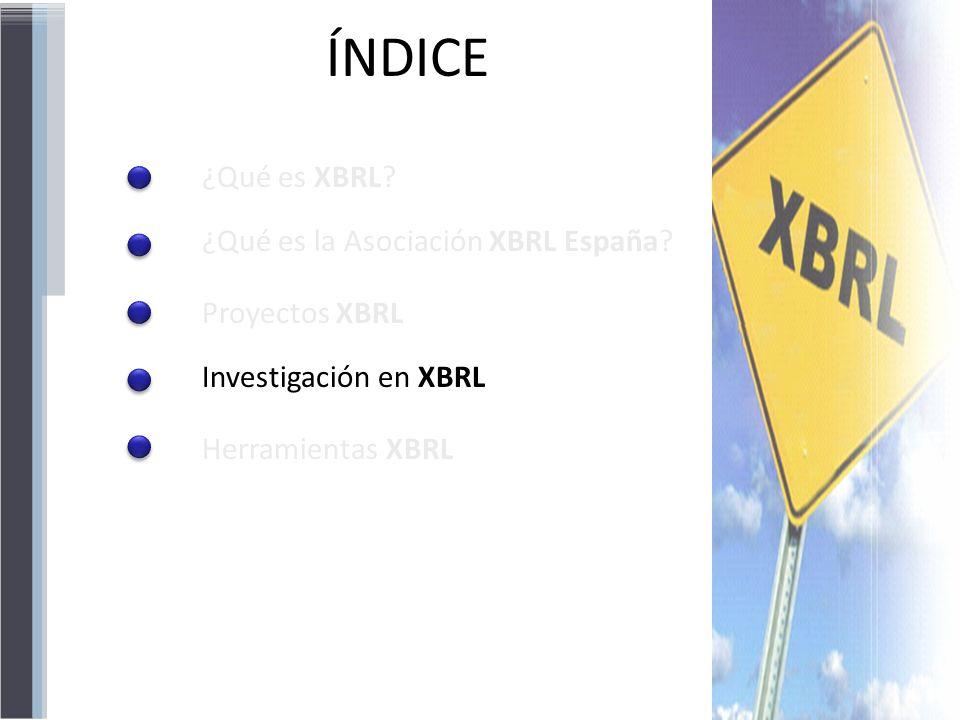 ÍNDICE ¿Qué es XBRL ¿Qué es la Asociación XBRL España Proyectos XBRL