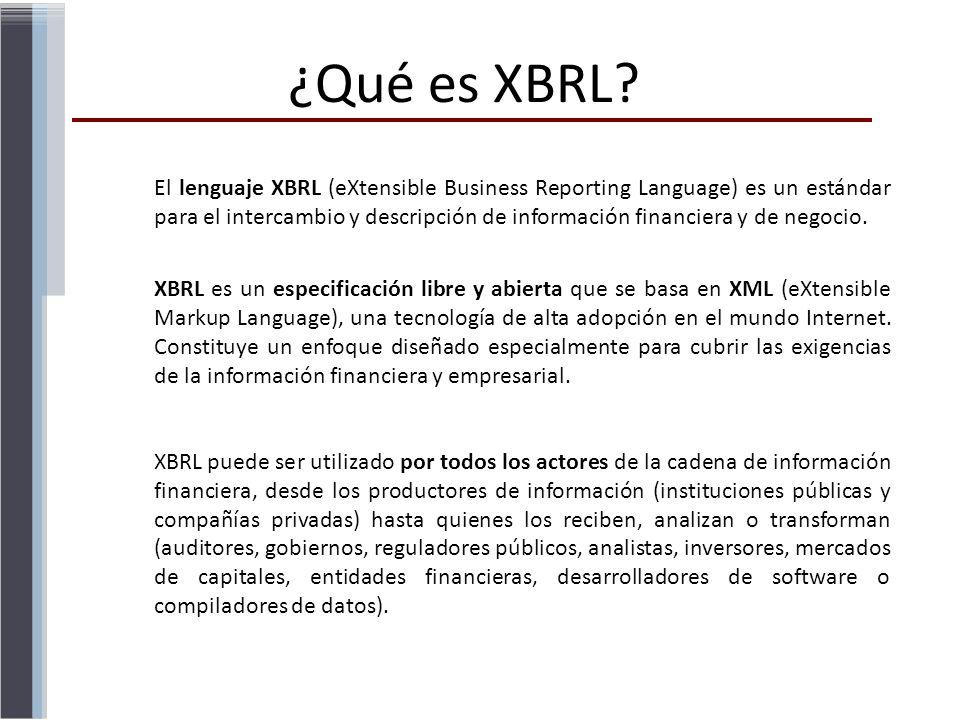 ¿Qué es XBRL