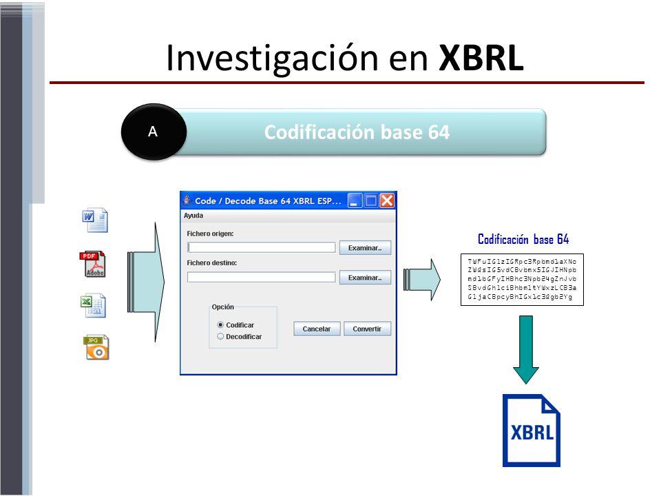 Investigación en XBRL Codificación base 64 A Codificación base 64 45