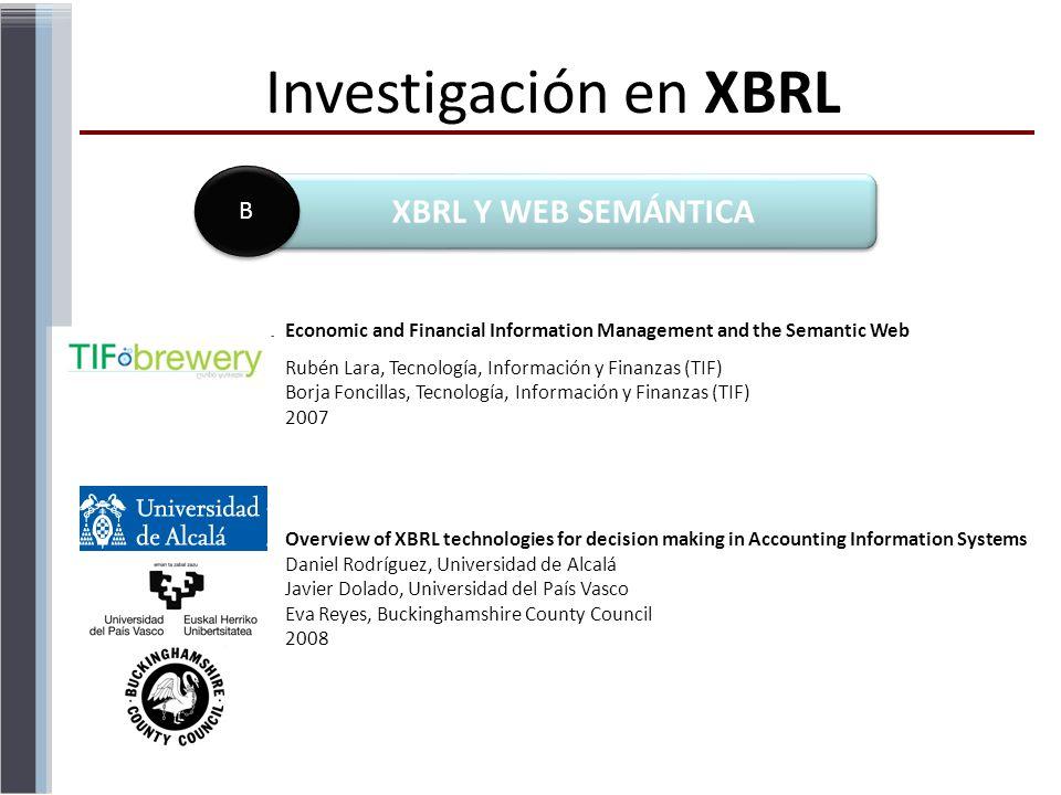 Investigación en XBRL XBRL Y WEB SEMÁNTICA B
