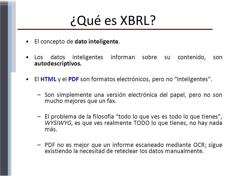 ¿Qué es XBRL El concepto de dato inteligente.