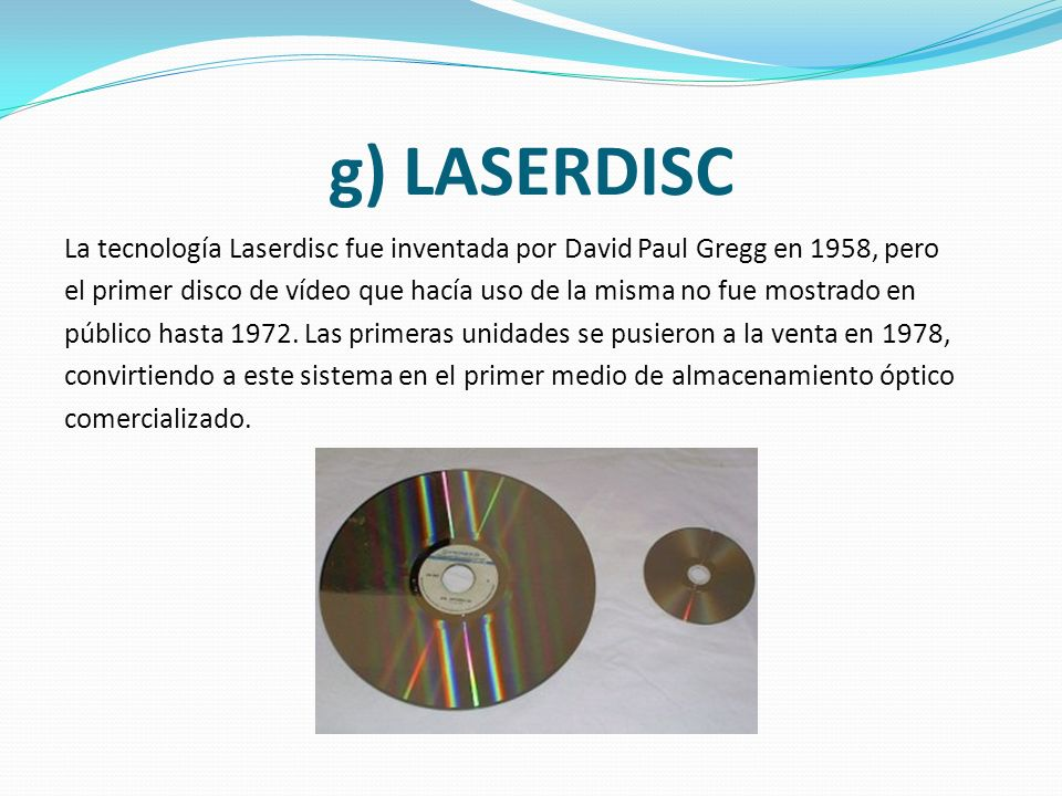 g) LASERDISC