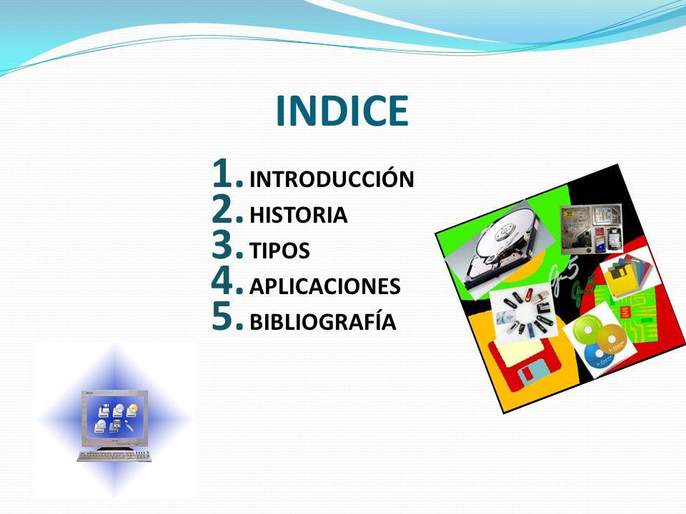 INDICE INTRODUCCIÓN HISTORIA TIPOS APLICACIONES BIBLIOGRAFÍA