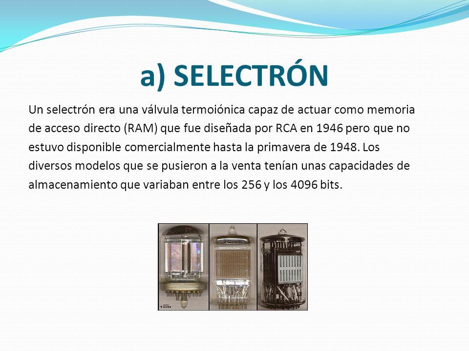 a) SELECTRÓN