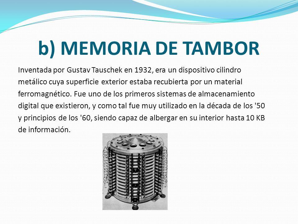 b) MEMORIA DE TAMBOR