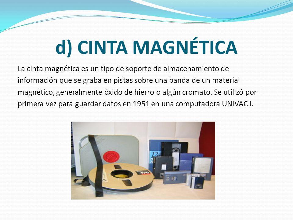 d) CINTA MAGNÉTICA