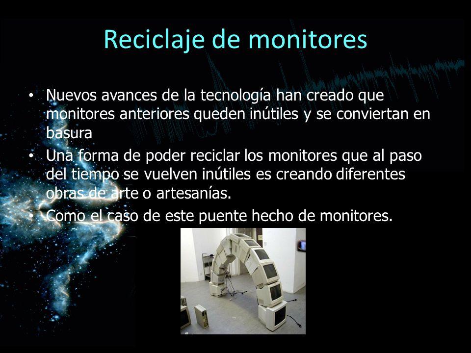 Reciclaje de monitores