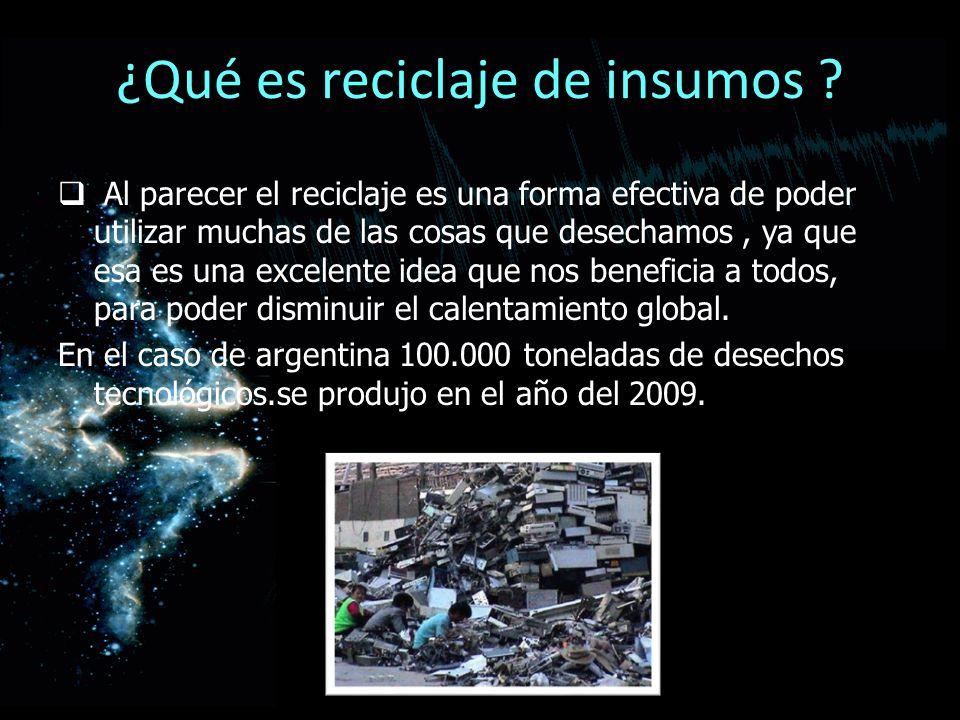 ¿Qué es reciclaje de insumos