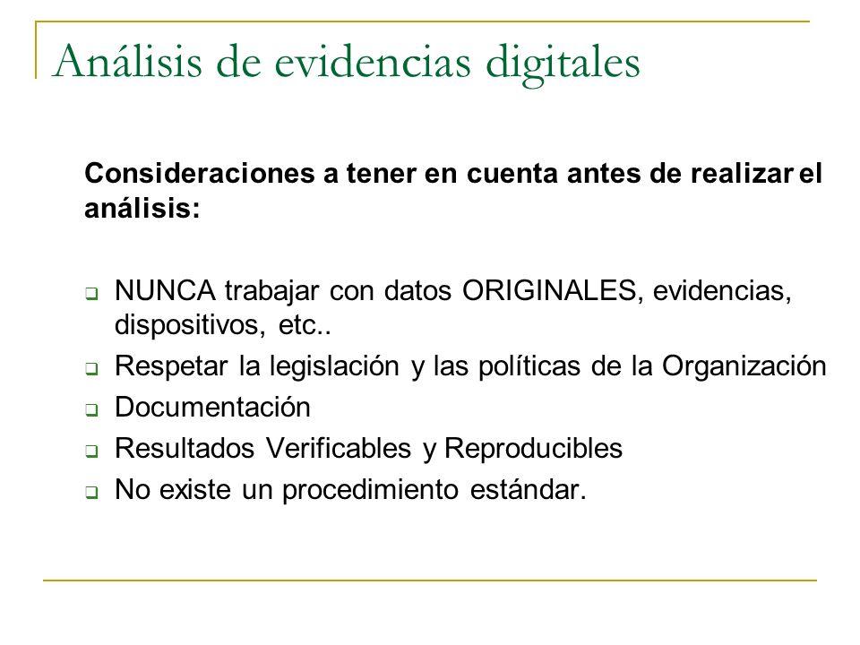 Análisis de evidencias digitales