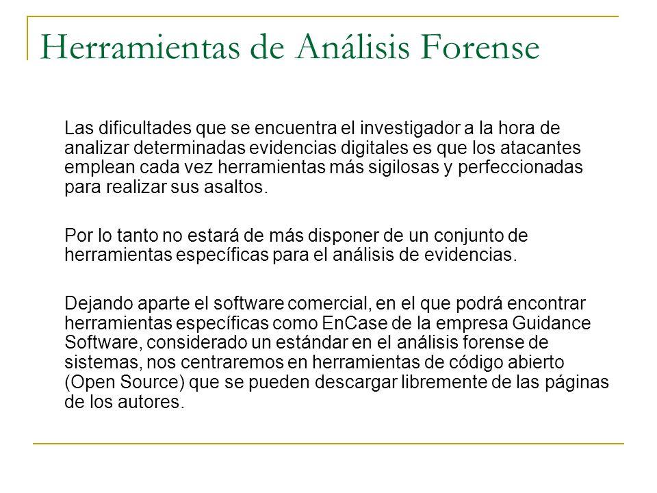 Herramientas de Análisis Forense