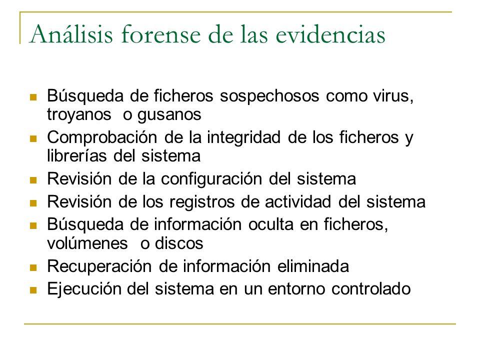Análisis forense de las evidencias