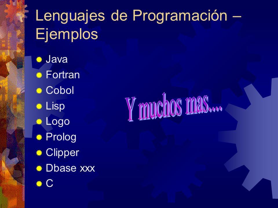 Lenguajes de Programación – Ejemplos