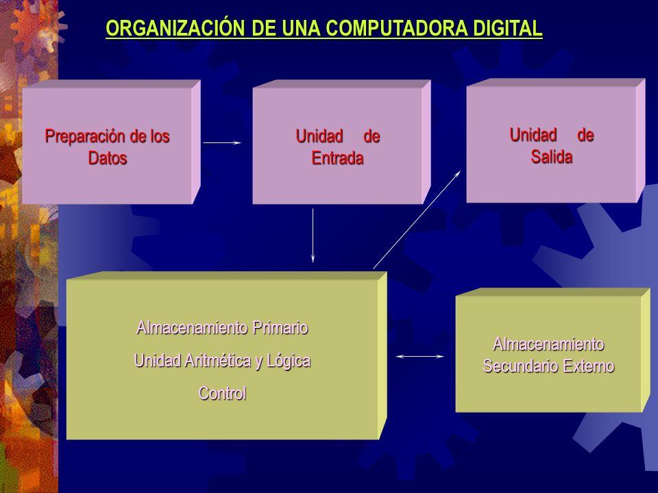 ORGANIZACIÓN DE UNA COMPUTADORA DIGITAL