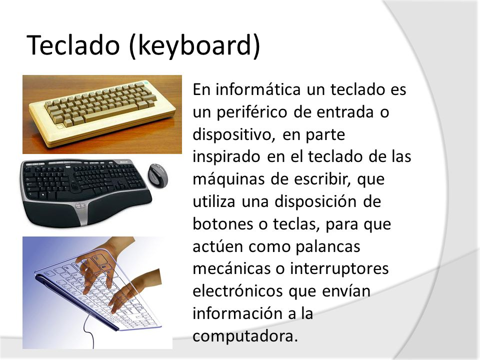 Teclado (keyboard)