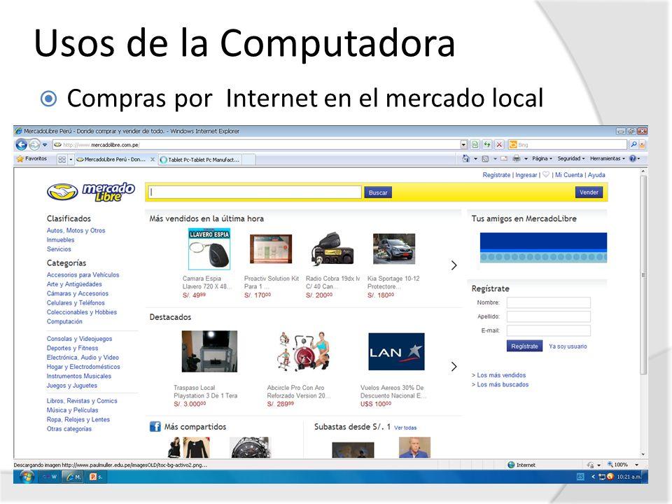 Usos de la Computadora Compras por Internet en el mercado local