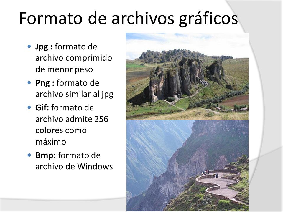 Formato de archivos gráficos