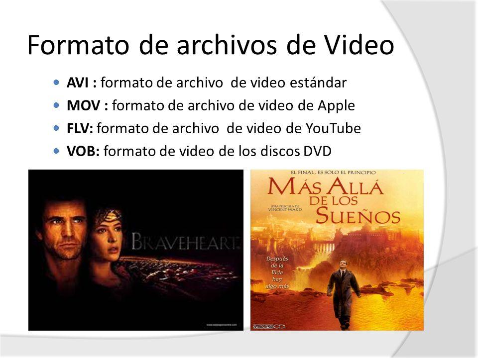 Formato de archivos de Video