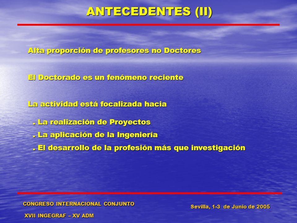 ANTECEDENTES (II) Alta proporción de profesores no Doctores