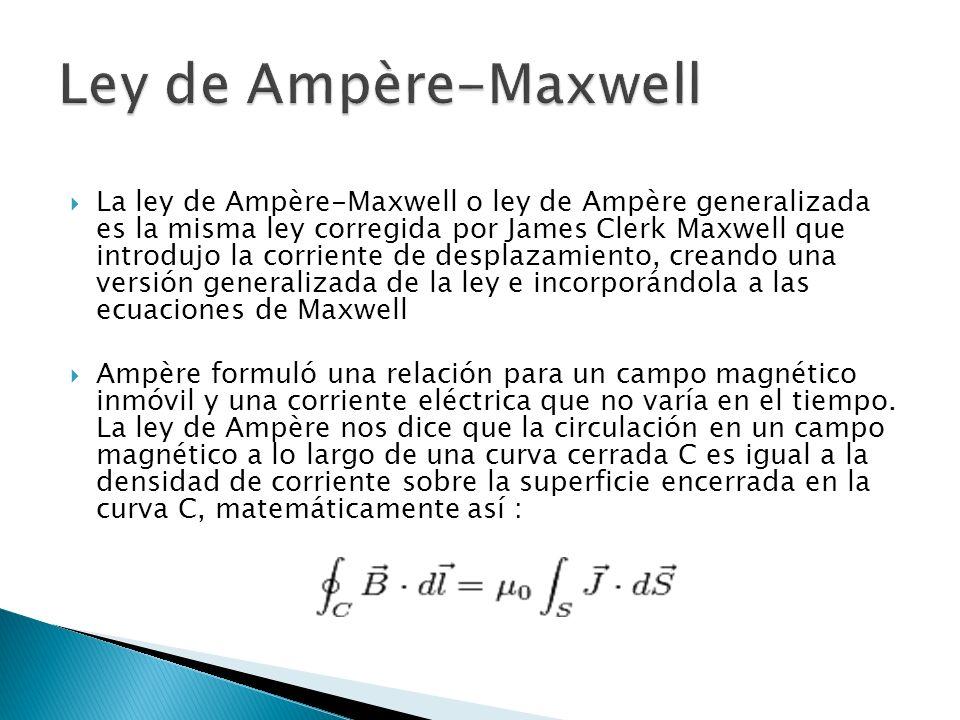 Ley de Ampère-Maxwell