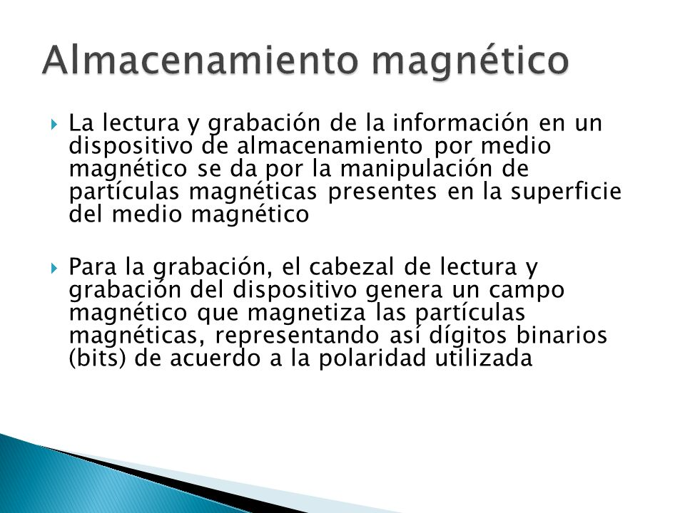Almacenamiento magnético